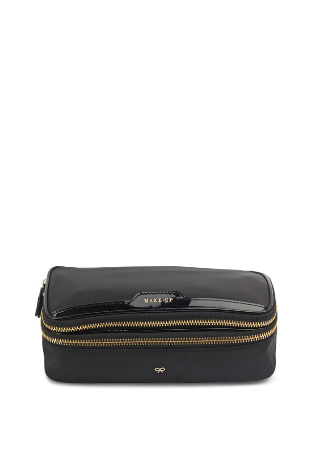 Make-Up II Black Nylon Cosmetics Bag