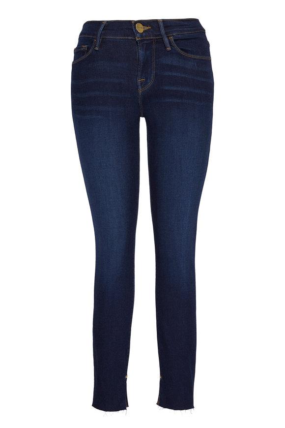 Frame Le Skinny De Jeanne Cuff Slit Jean