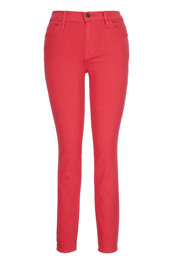 Frame Le High Red Skinny Jean