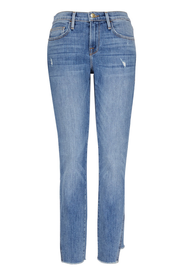Frame Le Boy Ankle Gusset Step Distressed Jean