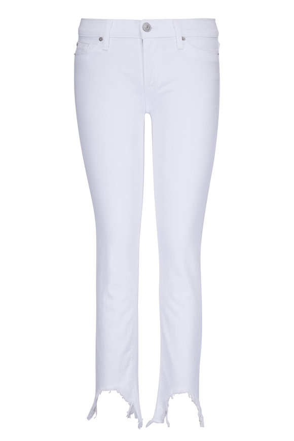 Hudson Clothing Tally White Skinny Mid-Rise Crop Jean