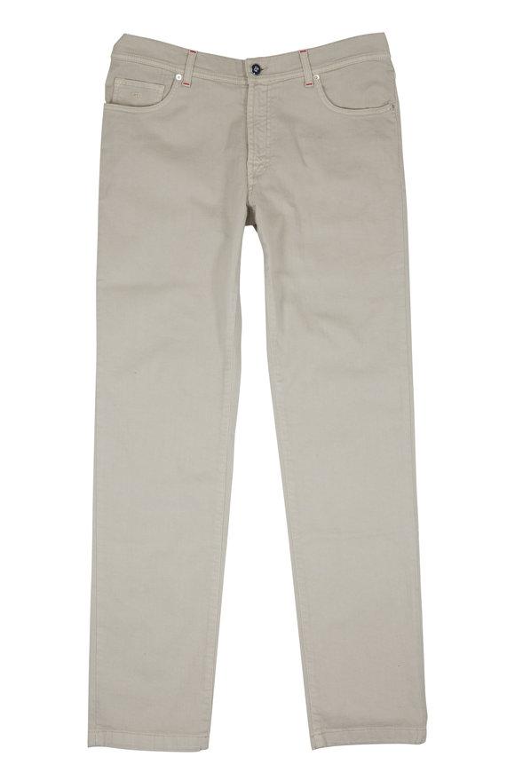 Marco Pescarolo Stone Stretch Cotton Five-Pocket Pant