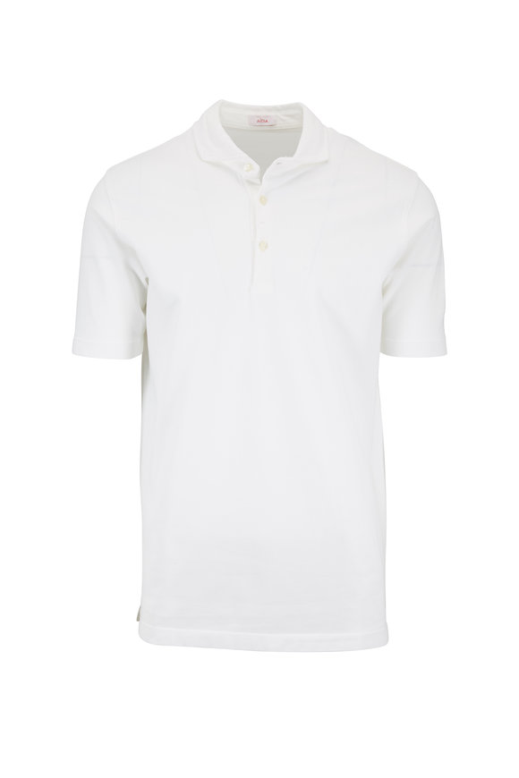 Altea White Piqué Spread Collar Polo