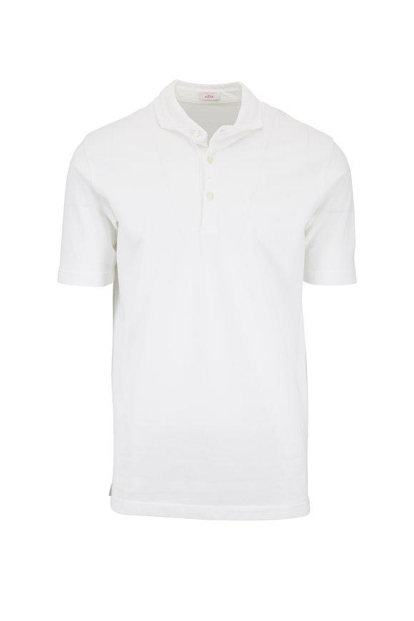 Altea White Piqué Spread Collar Polo