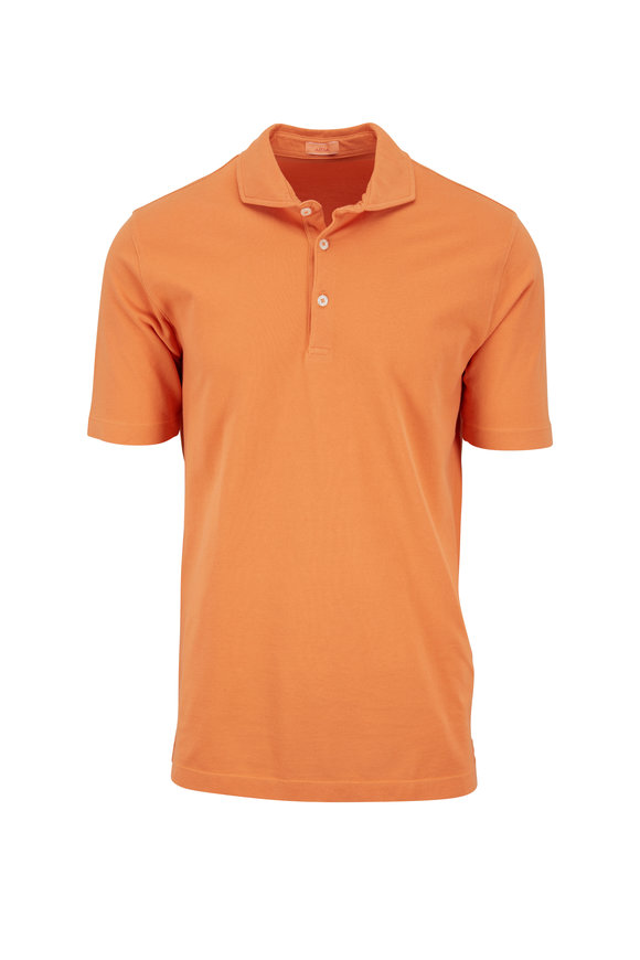 Altea Orange Piqué Spread Collar Polo