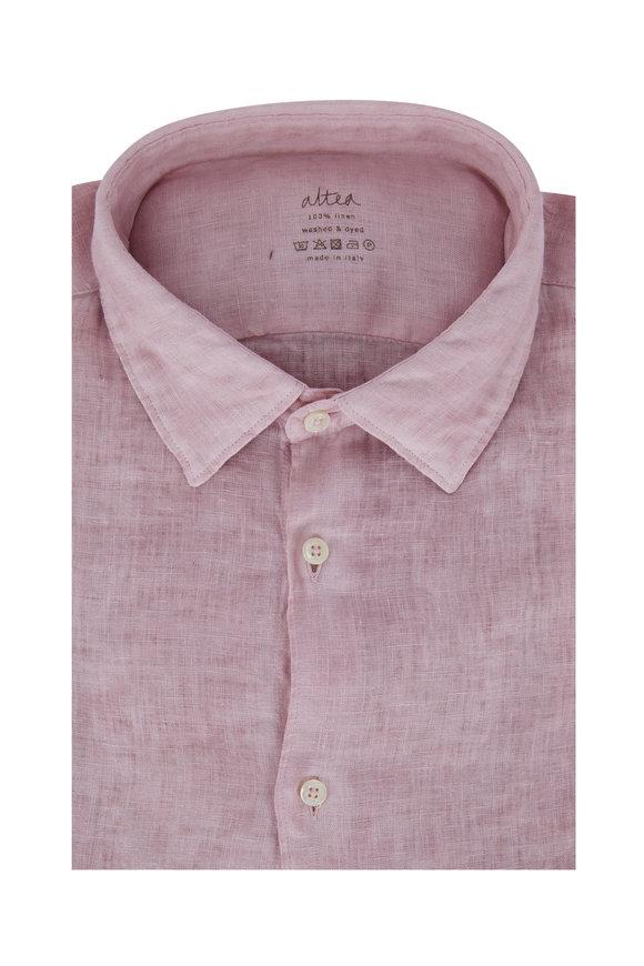 Altea Pink Linen Sport Shirt
