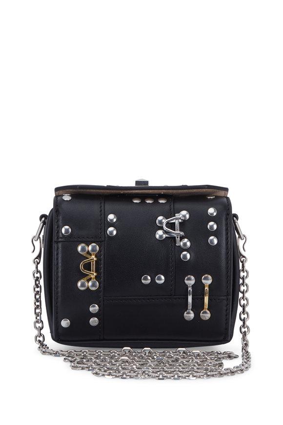 Alexander McQueen Black Studs & Hooks Nano Box Bag
