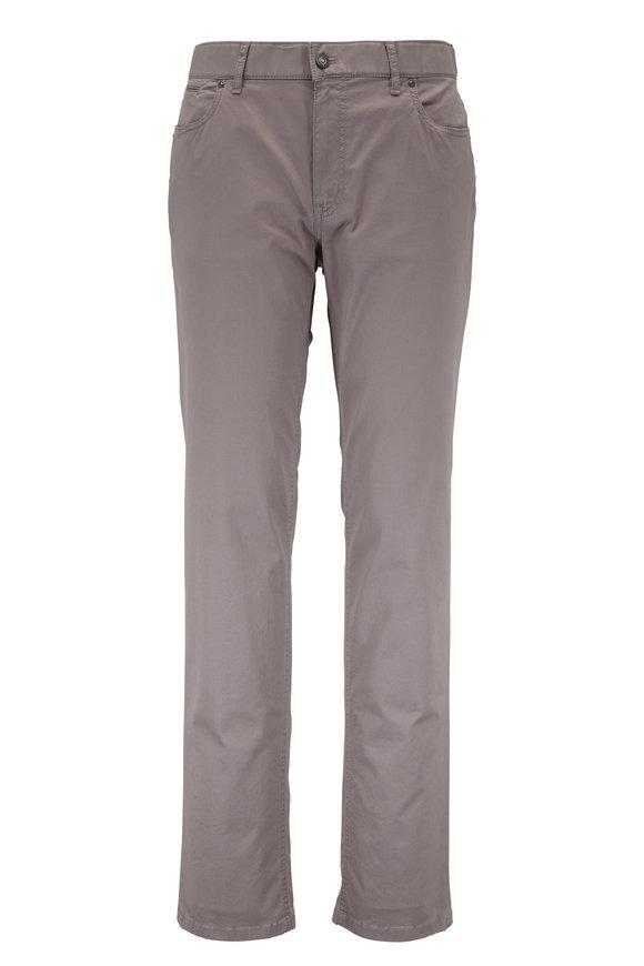 Hiltl Taupe Stretch Cotton Five Pocket Pant