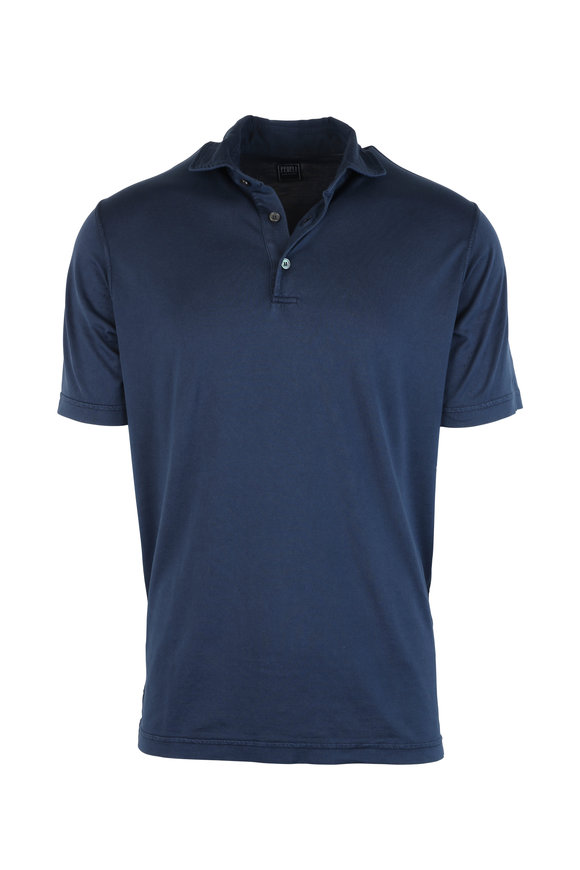 Fedeli Navy Blue Jersey Polo
