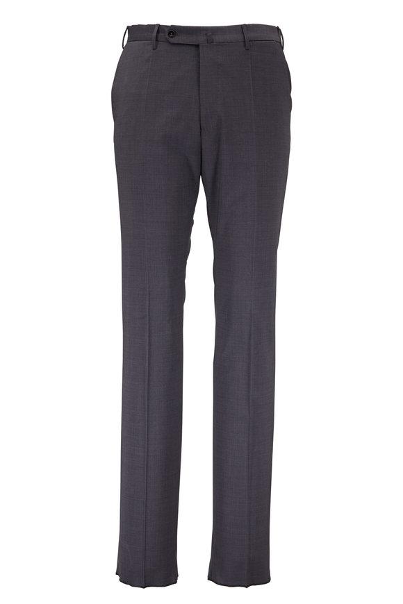 Incotex Benson Charcoal Gray Techno Wool Pant