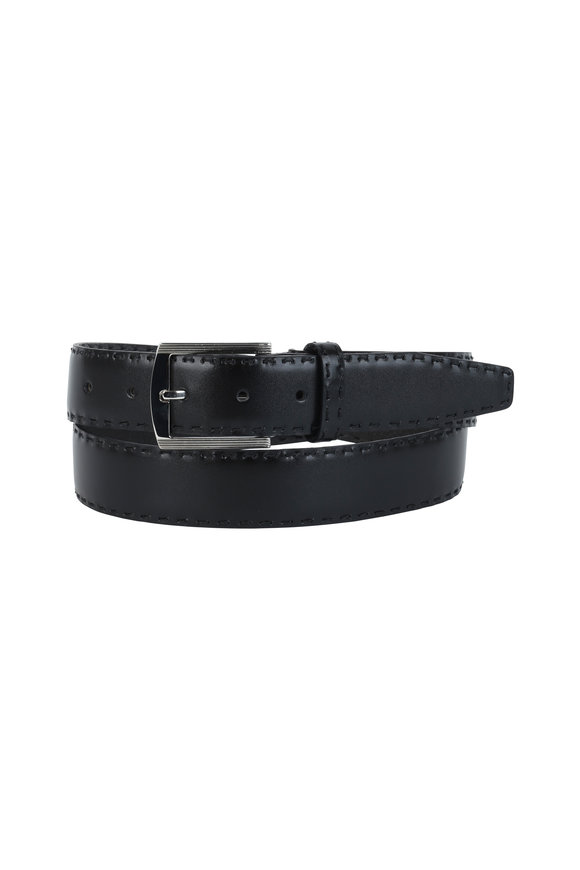 Kiton Black Leather Belt