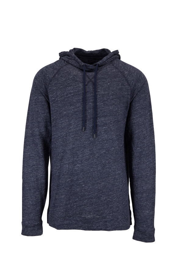 Good Man Brand Navy Blue Heather Linen Hoodie