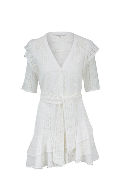Veronica Beard - Sima White Lace Mini Dress