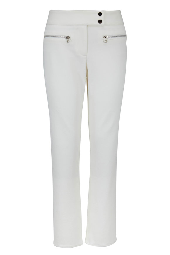 Veronica Beard Metro White Kick Flare Crop Pant