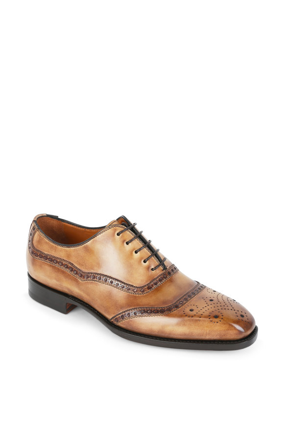 Bontoni Tiziano Beige Leather Oxford