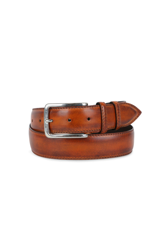 Bontoni Rust Leather Belt
