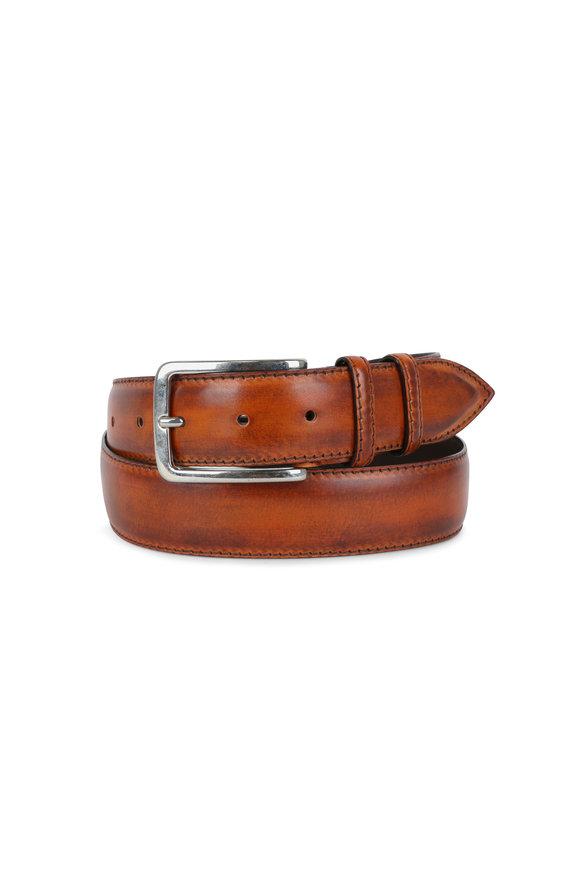 Bontoni Rust Leather Belt