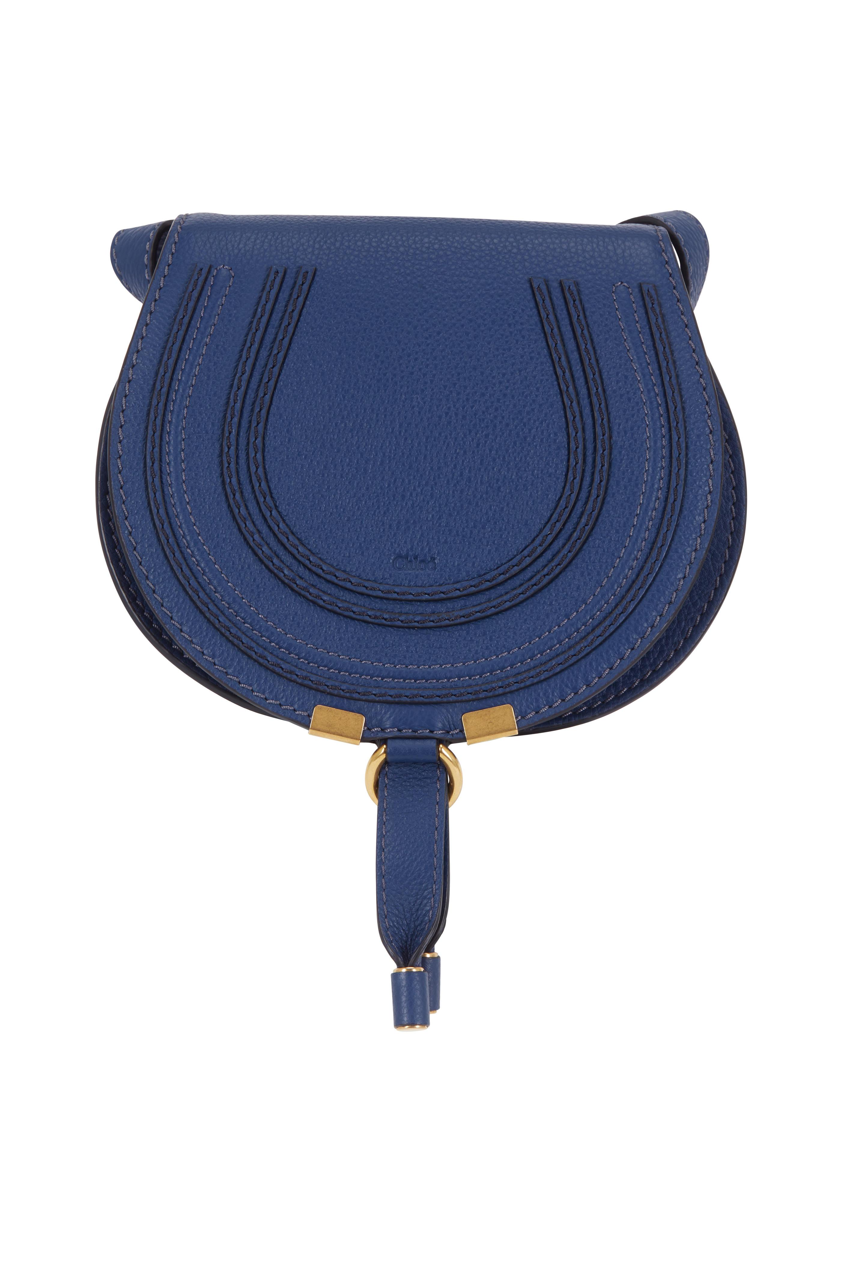 3fa54321b86 Chloé - Marcie Navy Blue Leather Small Crossbody | Mitchell Stores