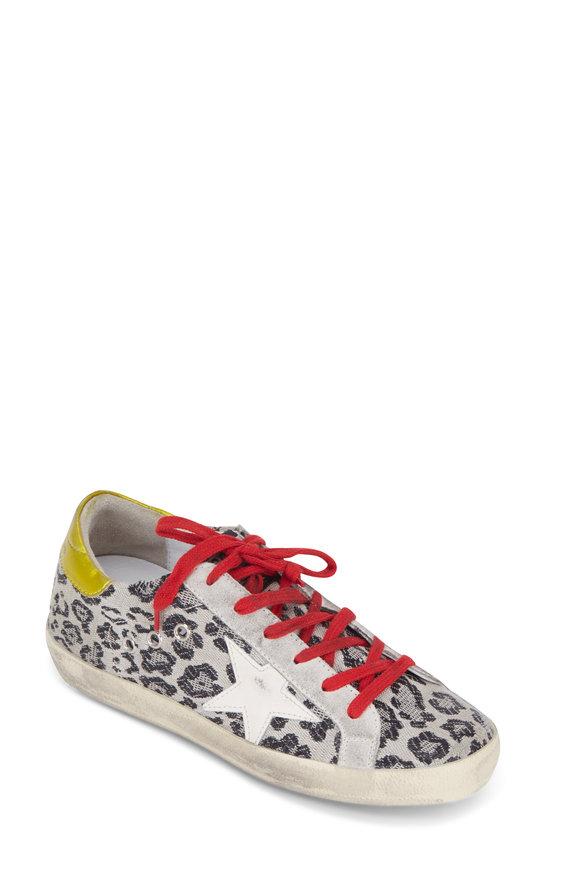 Golden Goose Women's Superstar Black Leopard Jacquard Sneaker