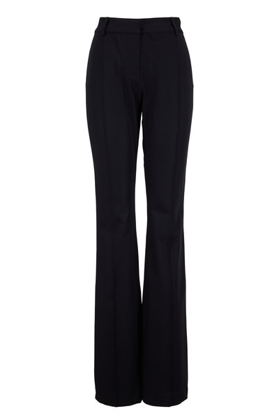 Veronica Beard - Hibiscus Black High-Rise Flare Pant