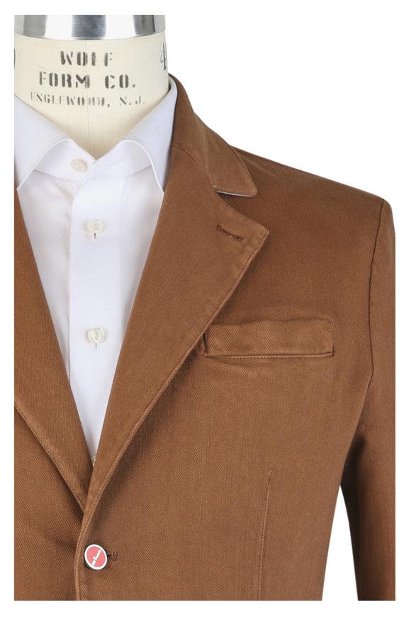 Kiton Rust Denim Wash Casual Sportcoat