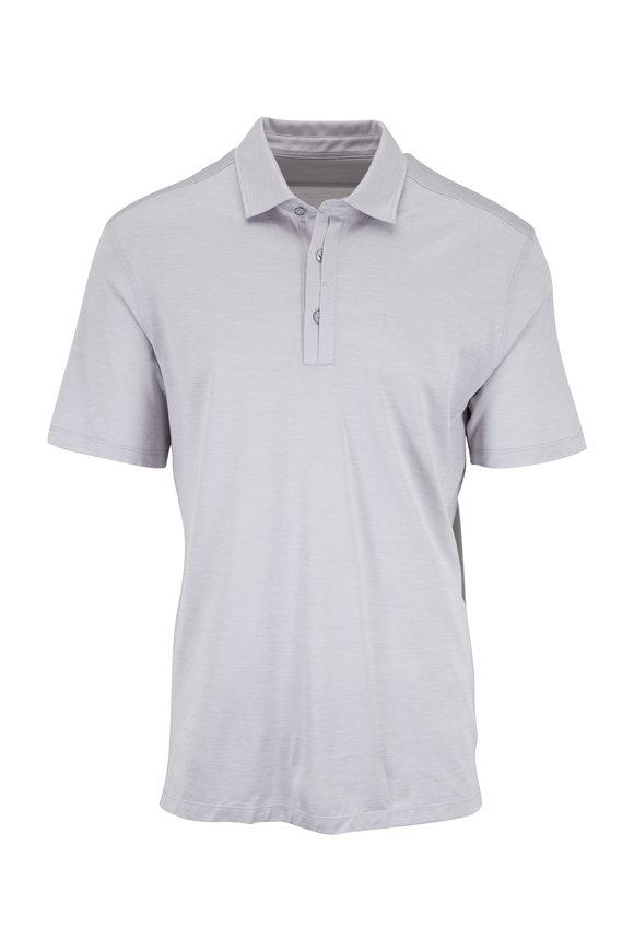 Ermenegildo Zegna Gray Cotton & Silk Polo