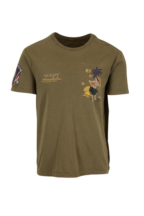 Polo Ralph Lauren Olive Green Short Sleeve Graphic T-Shirt