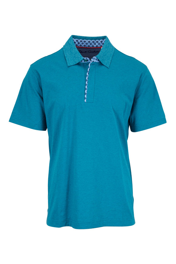 Robert Graham Diego Teal Classic Fit Polo
