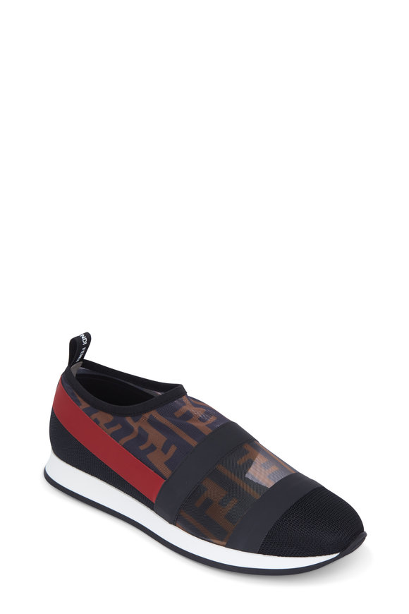 Fendi Black Zucca Mesh Sneaker