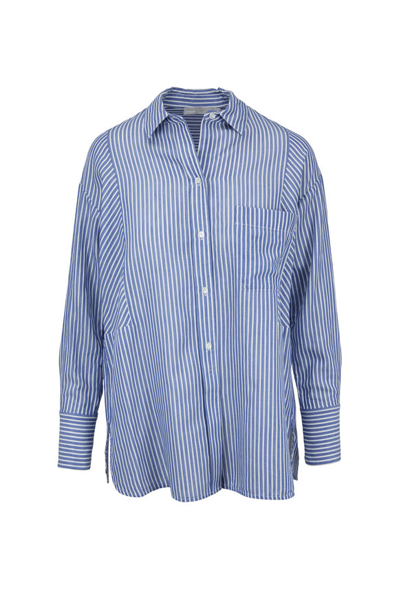 Vince White & Blue Classic Striped Tunic