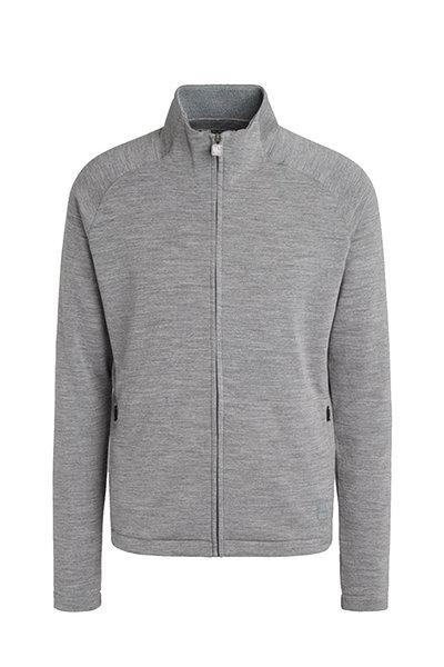 Z Zegna - Gray Techmerino Front Zip Sweatshirt
