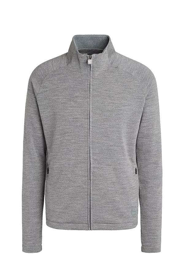 Z Zegna Gray Techmerino Front Zip Sweatshirt