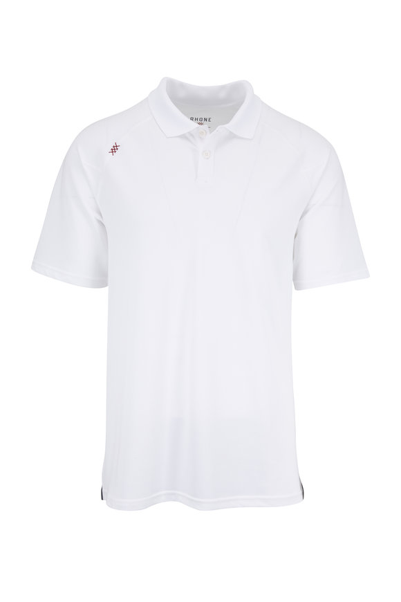 Rhone Apparel Delta White Piquè Polo