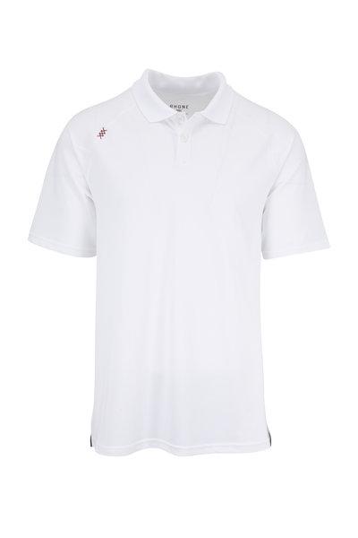 Rhone Apparel - Delta White Piquè Polo