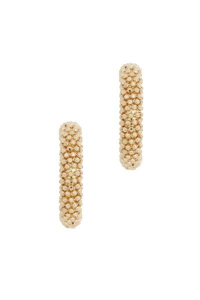 Alberto Milani - 18K Yellow Gold Beaded Hoop Earrings