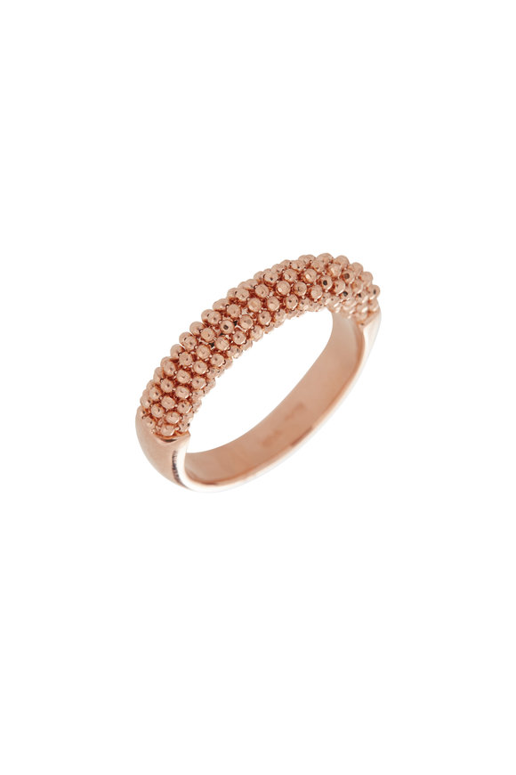 Alberto Milani 18K Rose Gold Beaded Band
