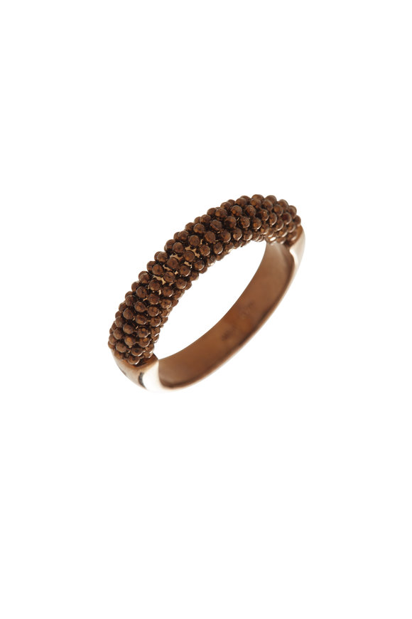 Alberto Milani 18K Chocolate Gold Beaded Band