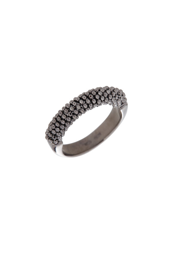 Alberto Milani 18K Black Gold Beaded Band