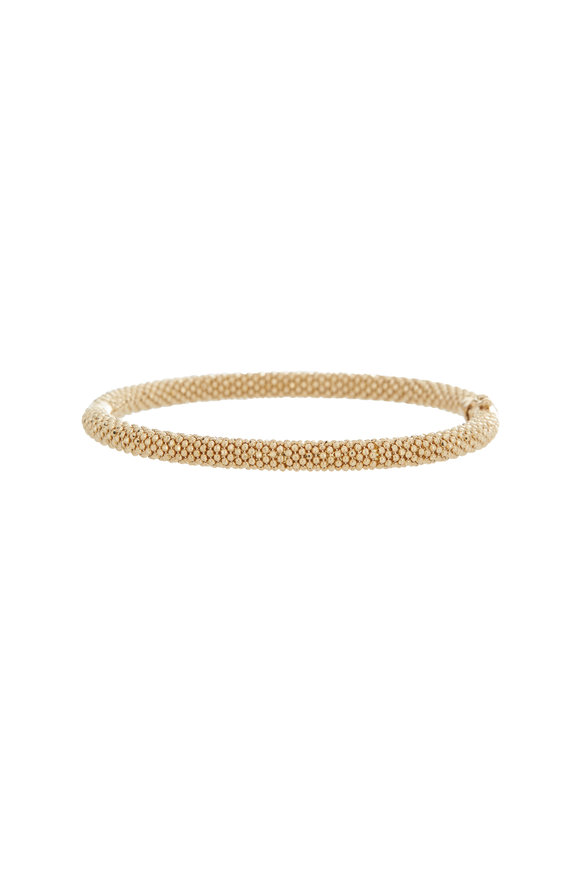 Alberto Milani 18K Yellow Gold Beaded Thin Bangle