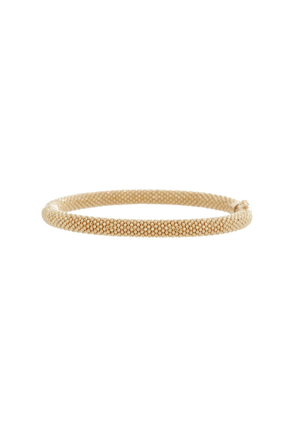 Alberto Milani 18K Yellow Gold Beaded Medium Bangle