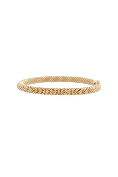 Alberto Milani - 18K Yellow Gold Beaded Medium Bangle