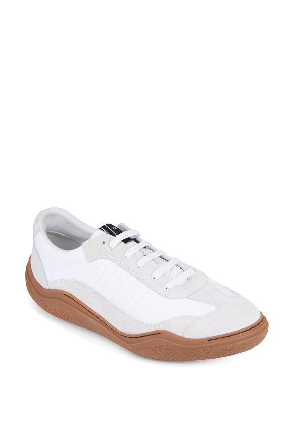 Lanvin White Leather & Suede Sneaker