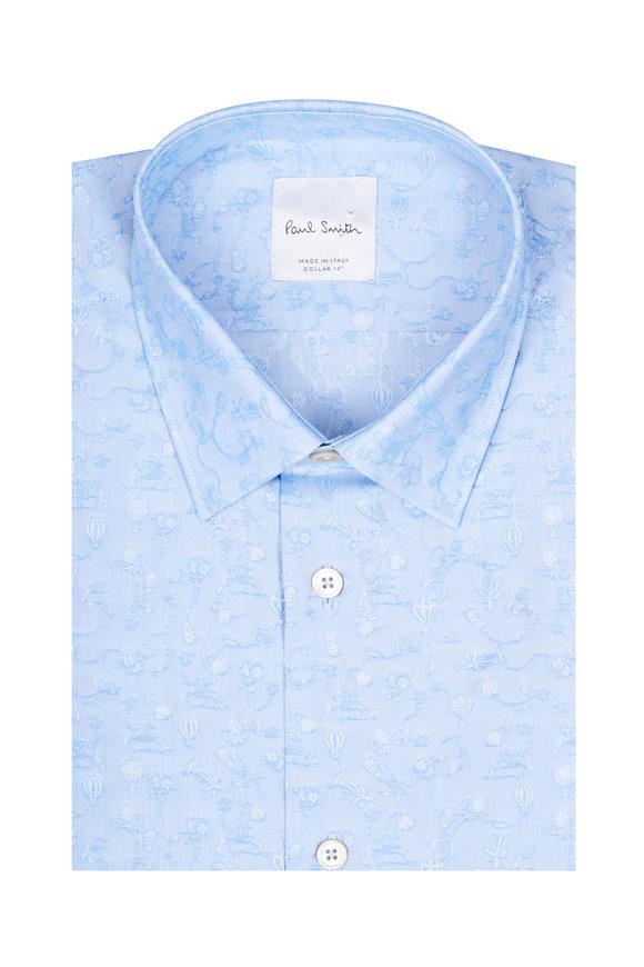 Paul Smith Tony Light Blue Paisley Dress Shirt