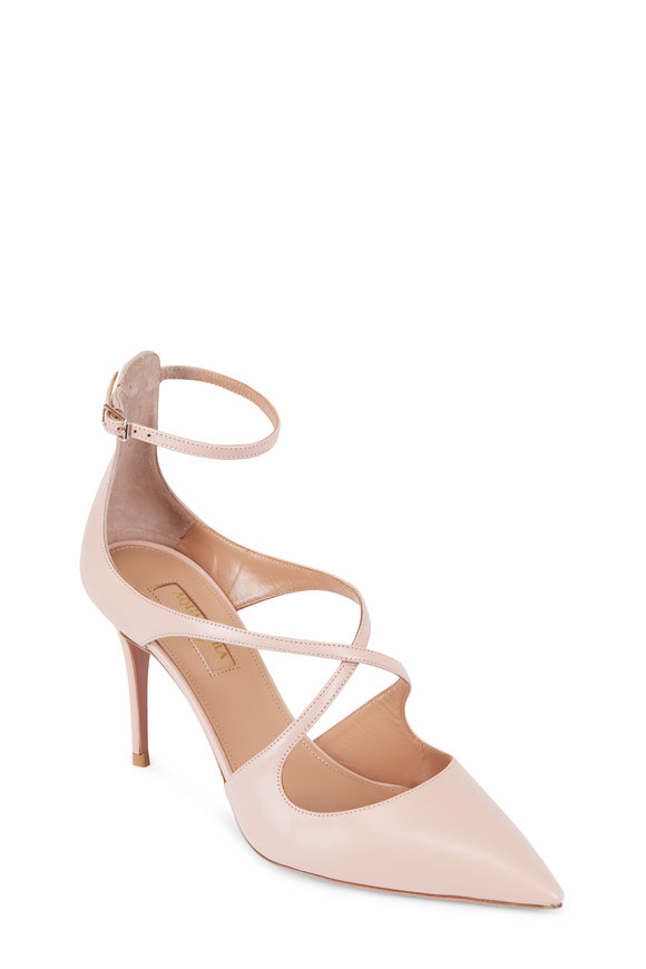 Aquazzura Powder Pink Calf Leather Pump, 85MM