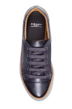 Di Bianco - Gunmetal Calfskin & Velour Sneaker