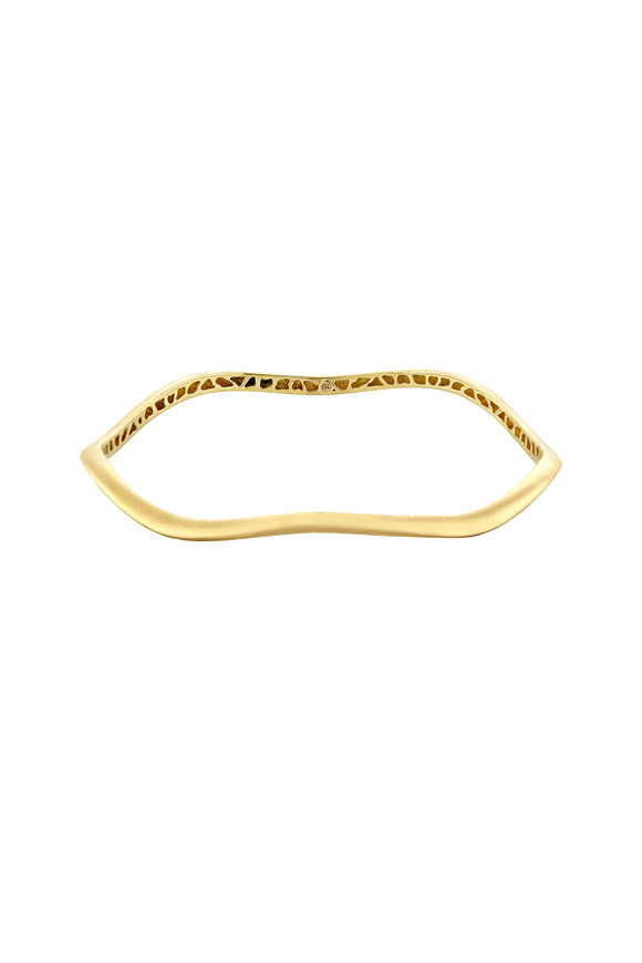 Sandy Leong 18K Yellow Gold Thin Canyon Bangle