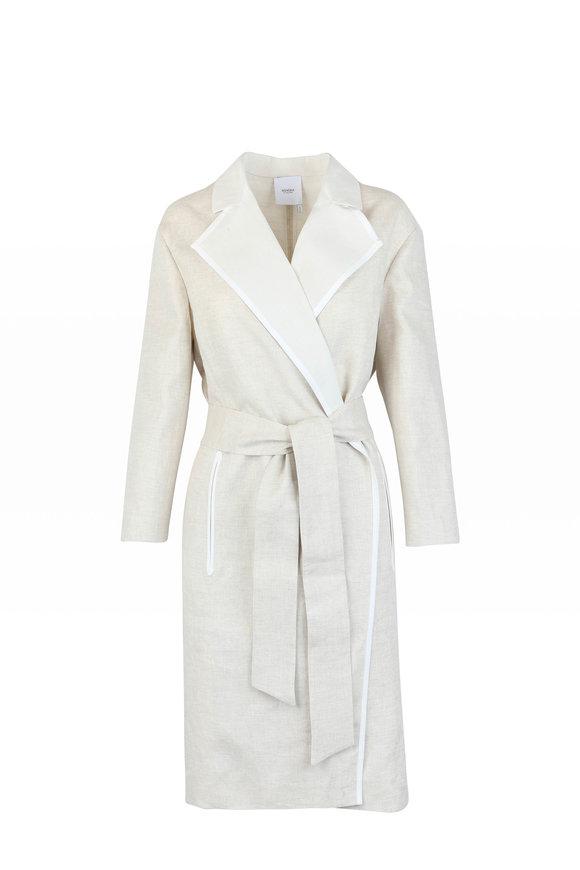Agnona Beige & White Linen & Silk Jacket