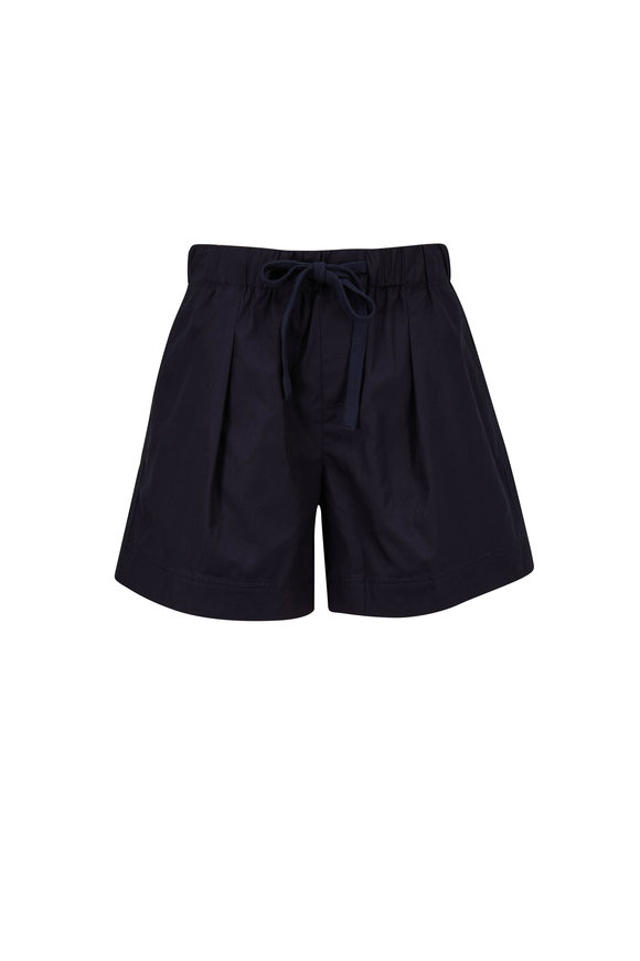 Vince Coastal Blue Pleated Front Short