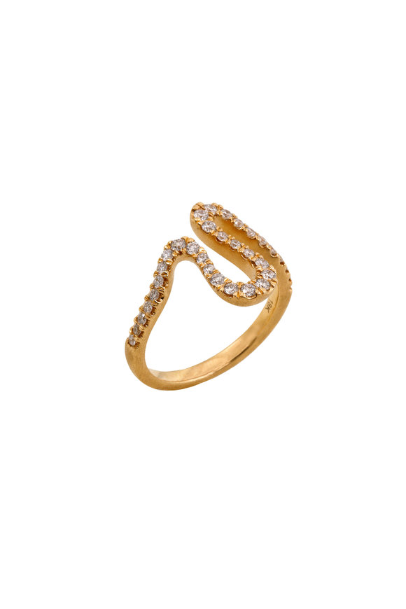Sandy Leong 18K Yellow Gold Diamond Harmonic Vibration Ring