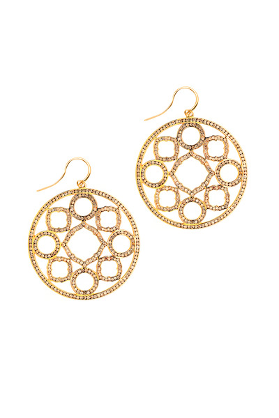Syna - Champagne Diamond Mogul Earrings